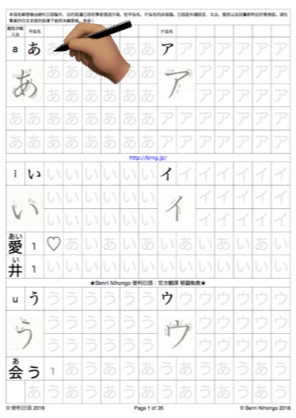 Learning Japanese Alphabet (Kana Practice Sheet or Kana Copybook ...